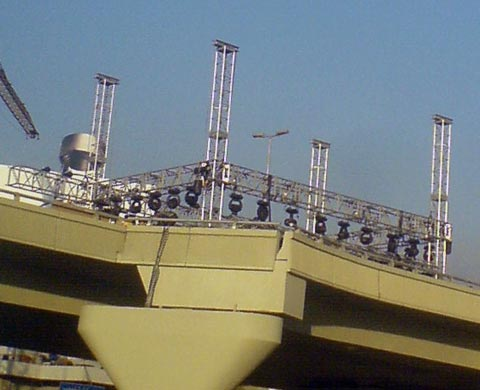 A stage on a bridge