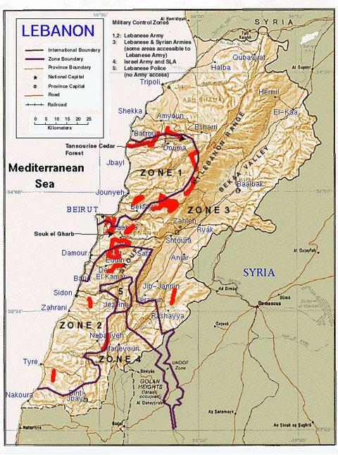 Lebanon Mines Map