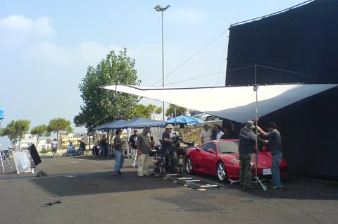 Advertisement Filming Set Ferrari