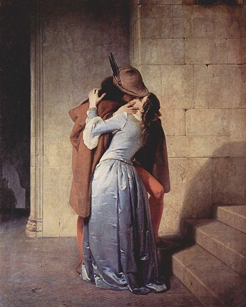 The Kiss by Francesco Hayez, 19th century.