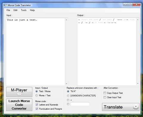 Morse Code Translator Preview