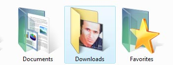 Vista downloads folder Icon